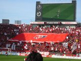 北ゴール裏のデカ旗05年3月5日浦和レッズ対鹿島アントラーズ