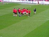 07年5月13日浦和レッズ対ガンバ大阪練習前の浦和選手