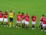 試合後の浦和レッズ選手07年7月7日ナビスコカップ浦和レッズ対ガンバ大阪