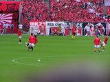 試合前練習07年7月7日ナビスコカップ浦和レッズ対ガンバ大阪