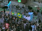 07年4月7日浦和レッズ対ジュビロ磐田戦でのジュビロサポーター