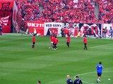 07年5月13日浦和レッズ対ガンバ大阪で練習する浦和選手