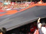 浦和のデカ旗05年3月5日浦和レッズ対鹿島アントラーズ