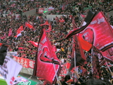 浦和レッズ大旗07年4月7日浦和レッズ対ジュビロ磐田戦