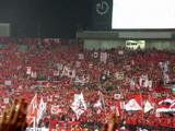 07年04月11日ACL AFCチャンピオンズリーグ浦和レッズ対上海申花での浦和レッズ北ゴール裏