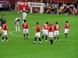 声を掛け合う浦和レッズ選手2007年8月1日浦和レッズ対サンフレッチェ広島
