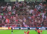 07年4月7日浦和レッズ対ジュビロ磐田戦で浦和レッズゴール裏ゲート旗