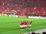 浦和選手、試合後の挨拶07年04月11日ACL AFCチャンピオンズリーグ浦和レッズ対上海申花