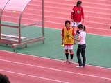 レディース選手にヒーローインタビュー07年7月8日浦和レッズレディース対伊賀
