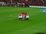 07年4月7日浦和レッズ対ジュビロ磐田戦後半開始前の円陣