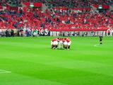 07年04月11日ACL AFCチャンピオンズリーグ浦和レッズ対上海申花戦レッズ選手試合前の円陣