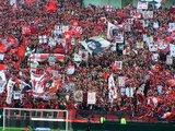 ゴール裏ゲート旗08年4月13日浦和レッズ対鹿島アントラーズ