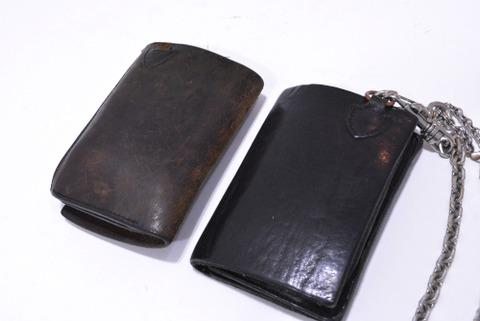 イサムカタヤマバックラッシュ 318-03 ダブルショルダー製品染め 財布 経年変化