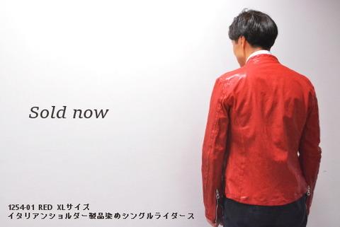 イサムカタヤマバックラッシュ 1254-01 RED