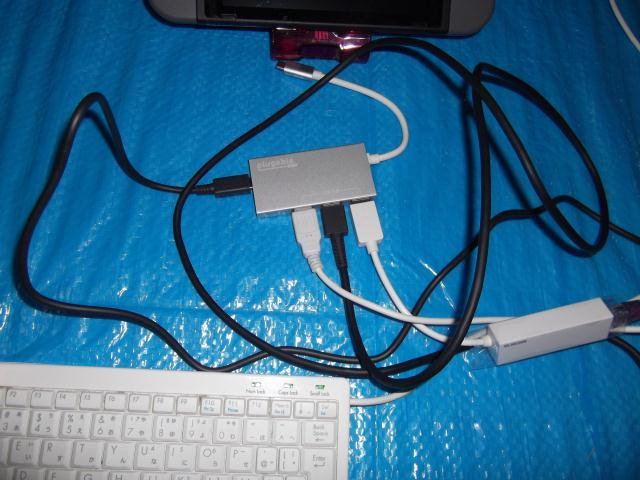 USBC-HUB3PにNintendo Switchで使用したいUSB機器を接続する