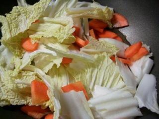 白菜と人参