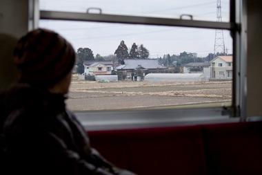 電車の窓からの風景