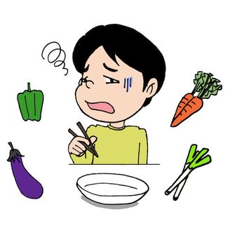 食べ物の好き嫌いイラスト
