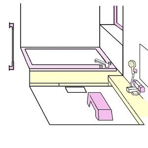 お風呂場イラスト