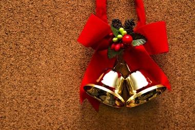 クリスマスベルの飾り