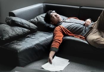ソファで寝落ち