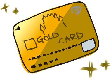 ゴールドカードイラスト