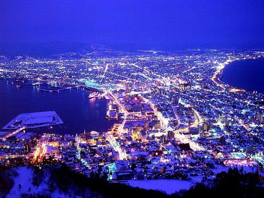北海道の夜景
