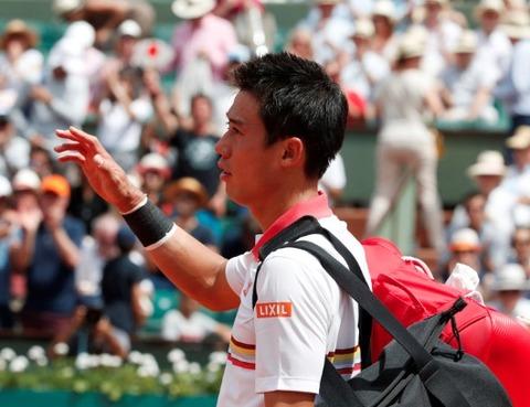 【テニス】錦織圭がドミニク・ティームに1-3で敗れベスト8ならず!!、全仏オープン 4回戦