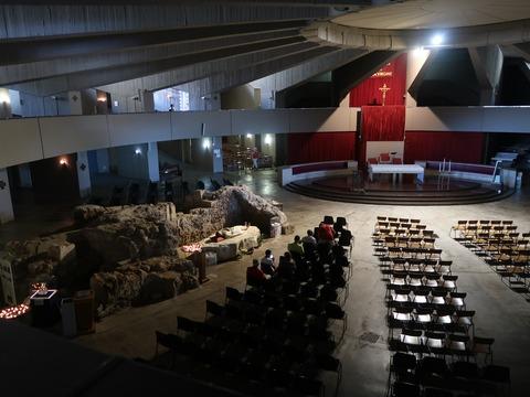 シラクーザラクリメ聖堂祭壇Sep2018