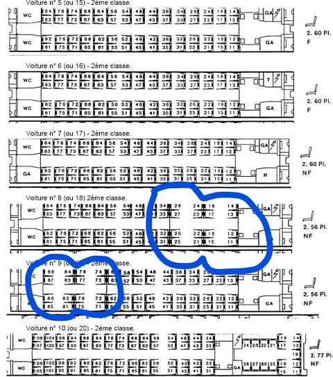 tgv 4人席の例 SNCF