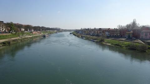 パヴィアのティチーノ川下流方向