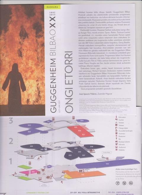 Guggenheim のパンフレットと見取図
