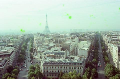 凱旋門屋上からエ塔展望198009