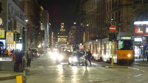 CS城を見るダンテ通の夜
