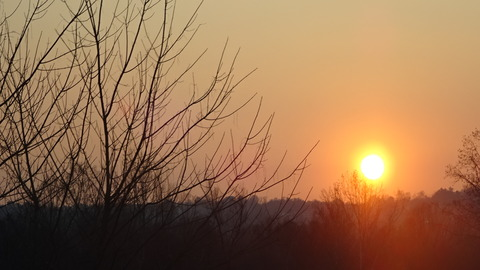 外レッコからミラノ道の夕陽 (2)