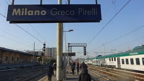 ミラノグレコピレリ駅の朝Mar2018