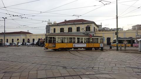 電TミラノPジェノバ駅前1500形