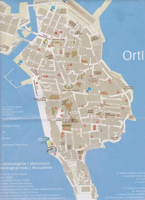 シラクーザ観光案内所パンフO島全図201809