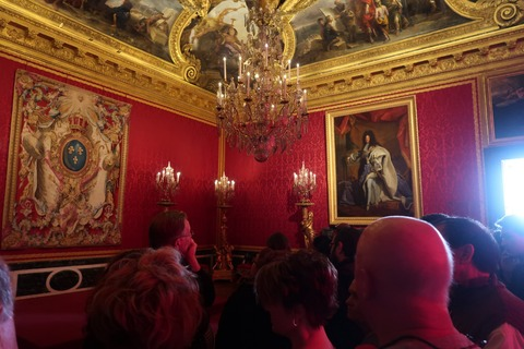 Versailles156王の部屋群アポロンの間とルイ14世の絵