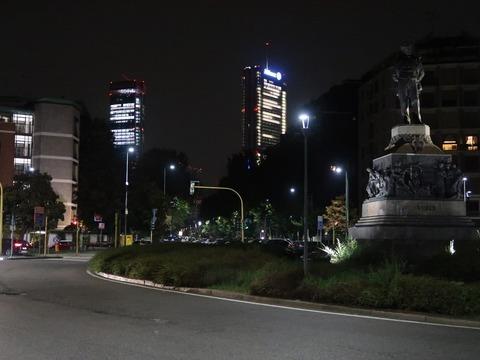 ブオナロッティ広場夜景Sep2018