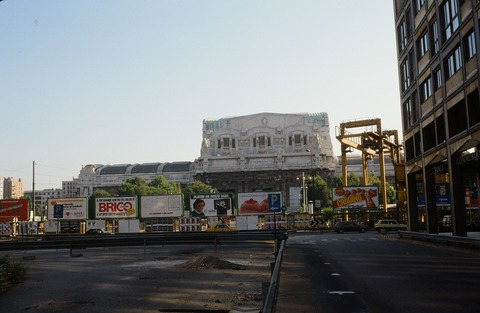 ミラノチェントラーレ工事開始中Aug1988
