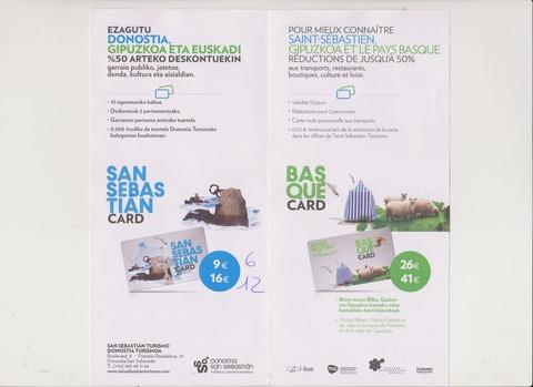 ドノスティアウスケラと仏語版交通カード案内2017