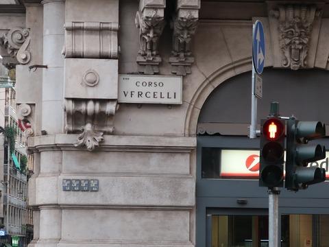 Cヴェルチェリ通標識Sep2018