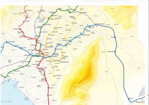 アテネ地下鉄路線図2020