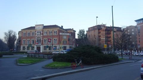 Buonarotti広場夕暮れ