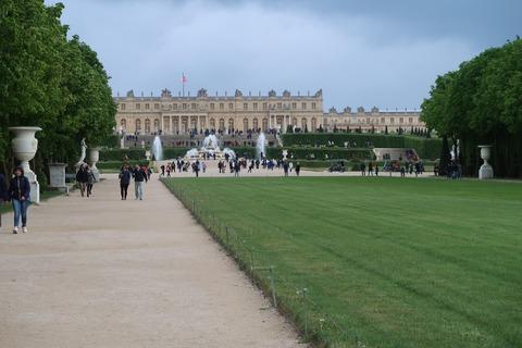 Versailles225cラトナ噴水中の遠景