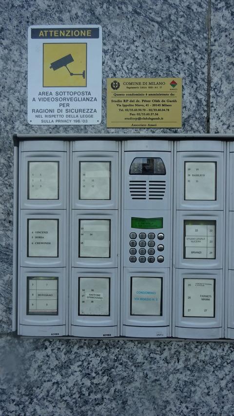 Buonarottiトレトリ界隈のマンションロンック装置