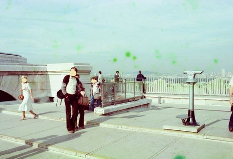 凱旋門屋上の様子198009