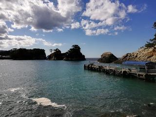 堂ヶ島の遊覧船乗り場