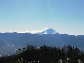 ほったらかし温泉からの富士山
